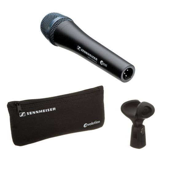 Sennheiser e935 Cardioid Dynamic Handheld Vocal Microphone accessories included