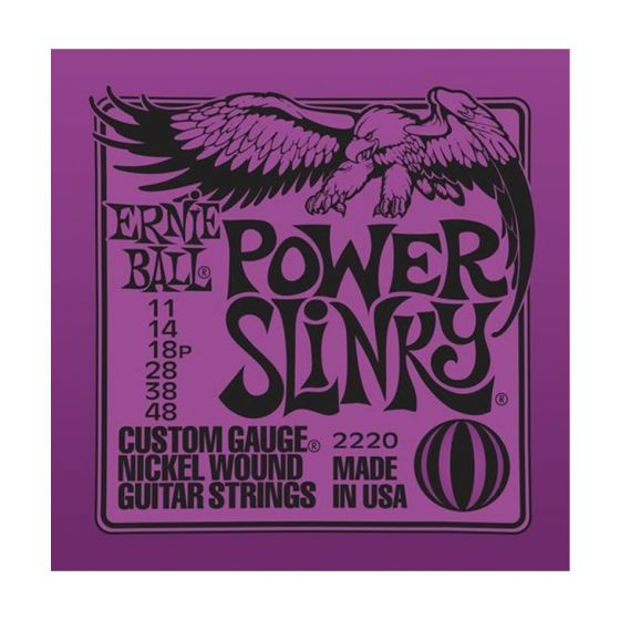 Ernie Ball Power Slinky Nickel Wound Electric Guitar Strings, Buy 10 Get 2 Free