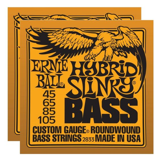 ERNIE BALL Hybrid Slinky Bass Nickel Wound Strings (2833)- 2 Pack