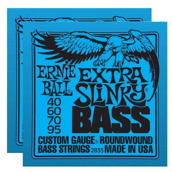 ERNIE BALL Extra Slinky Bass Nickel Wound Strings (2835) - 2 Pack