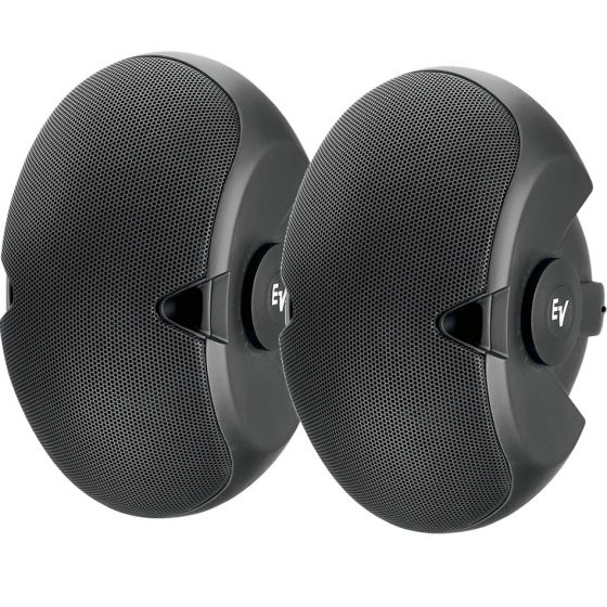 "E.V. EVID-6.2 - 2-Way 300-Watt Installation Speaker with Dual 6"" Woofers, 1"" Titanium Tweeter and 70V/100V Transformer"