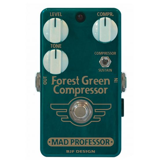 MAD PROFESSOR Forest Green Guitar and Bass Compressor/Sustainer Pedal
