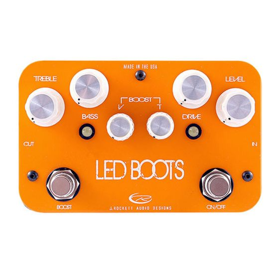ROCKETT Phil Brown LED Boots Overdrive Guitar Effects Pedal