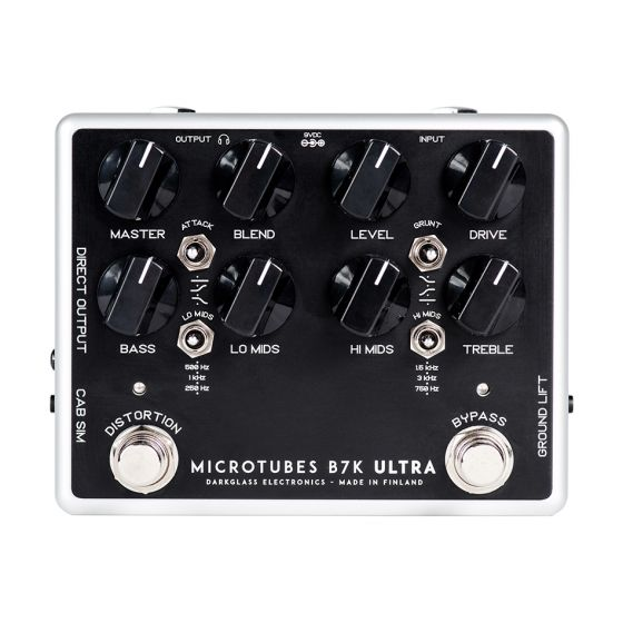 Darkglass Microtubes B7K Ultra v2 Preamp Overdrive Guitar Effects Pedal
