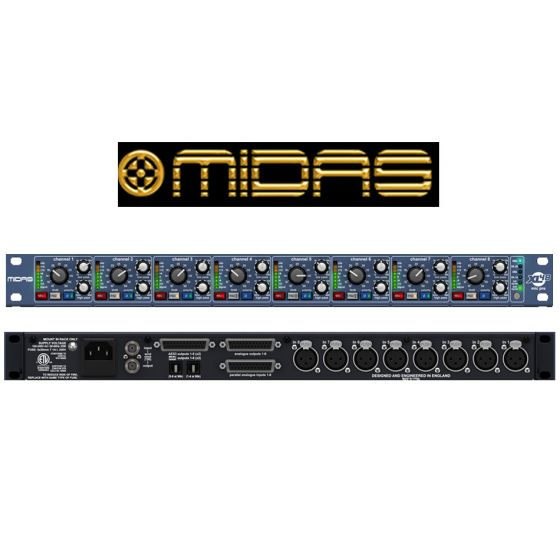 XL48 8 Channel DIGI-LOG Microphone Preamplifier with 96 kHz Converters and ADAT Outputs