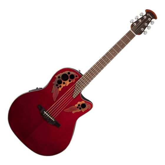 Ovation Celebrity Elite Super Shallow Body Ce48 RR Ruby Red Electric Acoustic