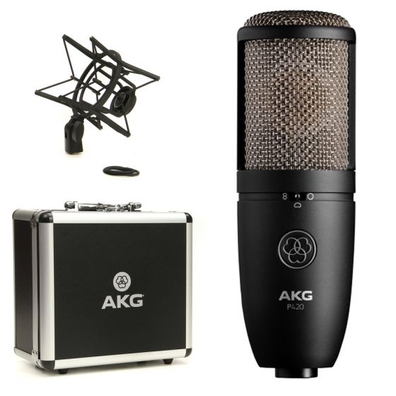 AKG P420 High Performance Large Diaphragm Dual-Capsule True Condenser Microphone cardioid frequency response
