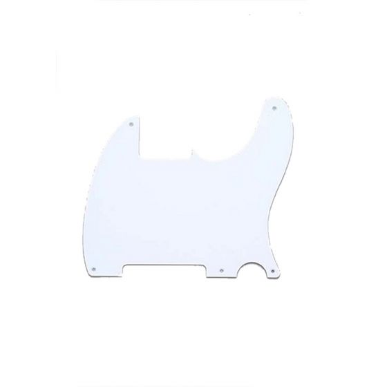 All Parts Pickguard for Esquire, 5 screw holes, 1-ply, White
