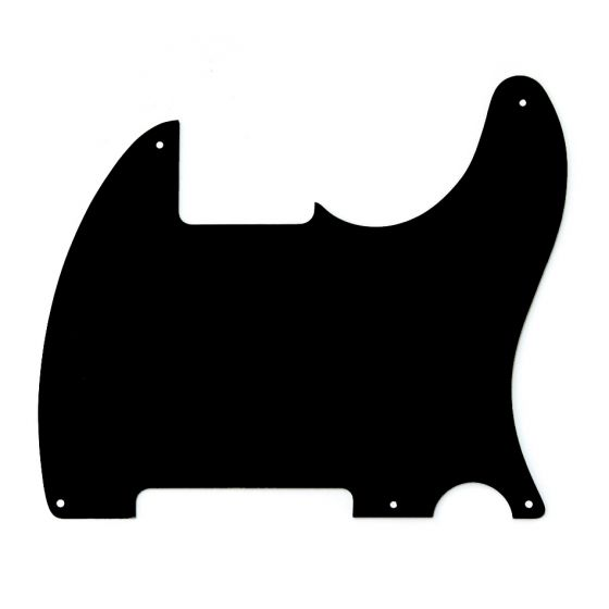 All Parts Pickguard for Esquire, 5 screw holes, 1-ply, Black Bakelite