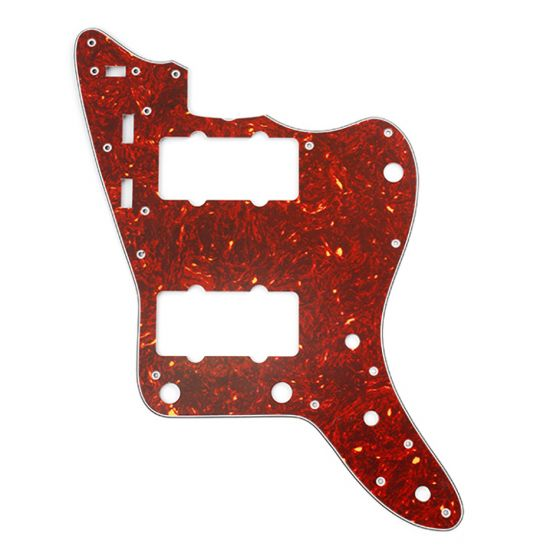 All Parts Pickguard for Jazzmaster, 13 screw holes, 3-ply, Vintage Red Tortoise