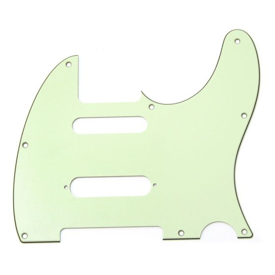All Parts Pickguard for Tele, , 8 screw holes, 3-ply, Mint Green