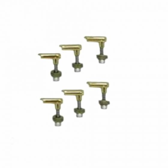 POWER PINS 6 String Advanced Bridge Pin Replacement System Gold