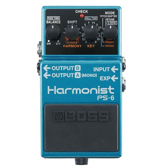 Boss PS-6 Harmonist Guitar Effect Pedal forward facing