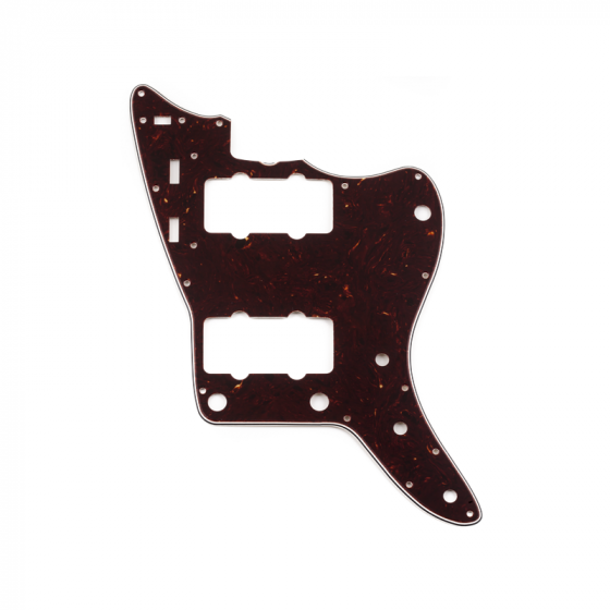 Pure Vintage Pickguard, '65 Jazzmaster®, 13-Hole Mount, Brown Shell, 3-Ply