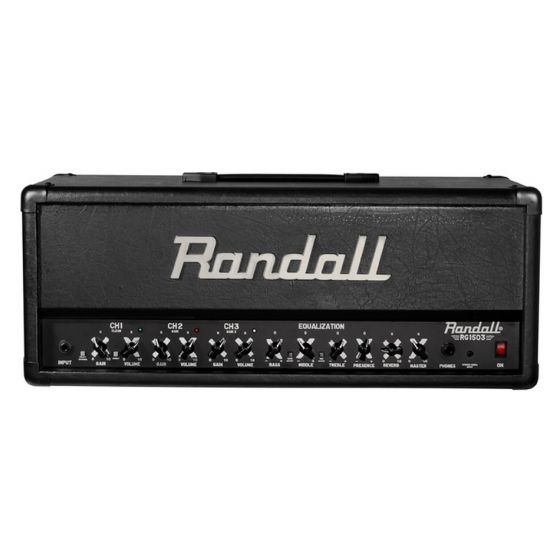 RANDALL RG1503H 3 Channel, 150w High Gain FET Solid State Guitar Amplifier Head front