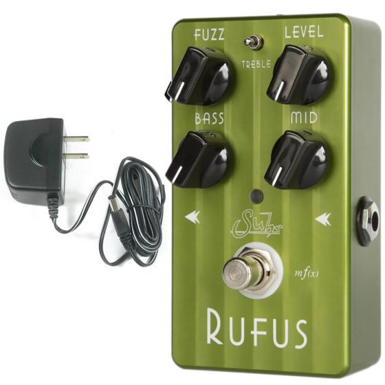 SUHR Rufus Fuzz Effect Pedal with 9V Power Supply