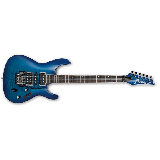 IBANEZ S670QM Electric Guitar Rosewood Fretboard Sapphire Blue  front