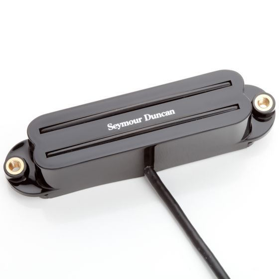 SEYMOUR DUNCAN SHR-1 Hot Rails High-output Neck Humbucker in a Single-coil Sized Pickup for Strat-style Guitars - Black
