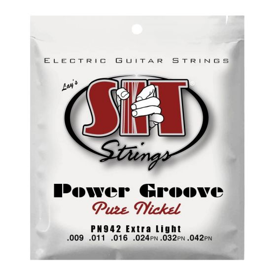 SIT Power Groove - Pure Nickel guitar strings, Extra Light