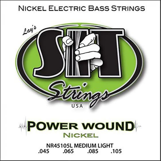 SIT Power Wound Bass String Set, Long Med Lt, Nickel plated