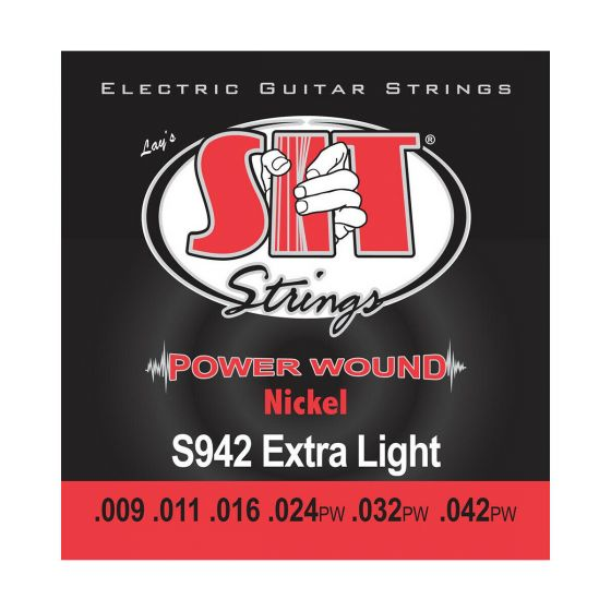SIT Power Wound Nickel Electric strings, Extra Light