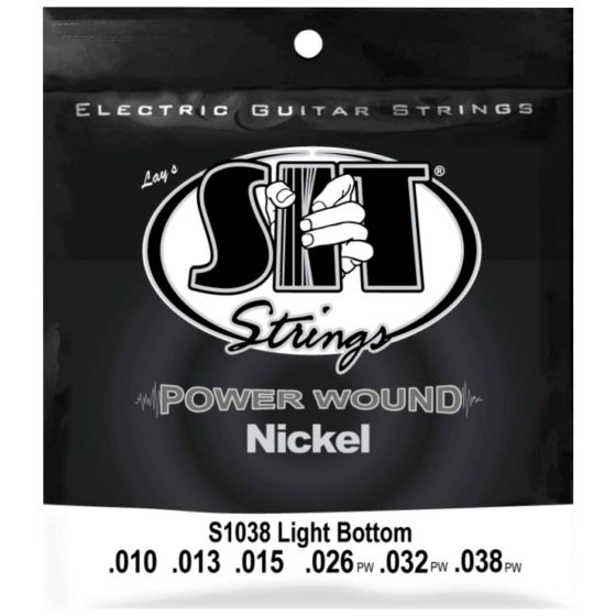 SIT Power Wound Nickel Electric Strings, Light Bottom