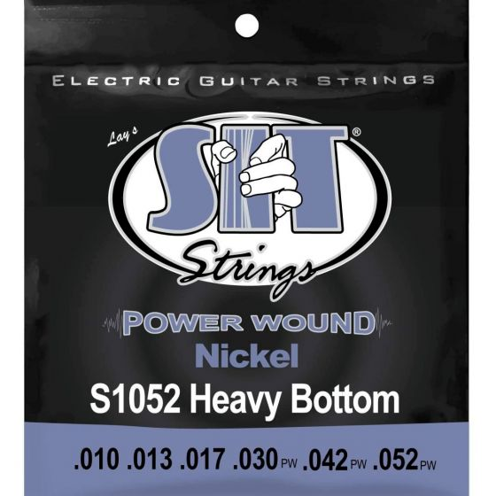 SIT Power Wound, nickel, Heavy Bottom string set for electric guitar
