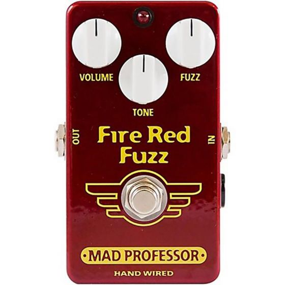 Mad Professor Hand Wired Fire Red Fuzz Effect Pedal Open Box Mint