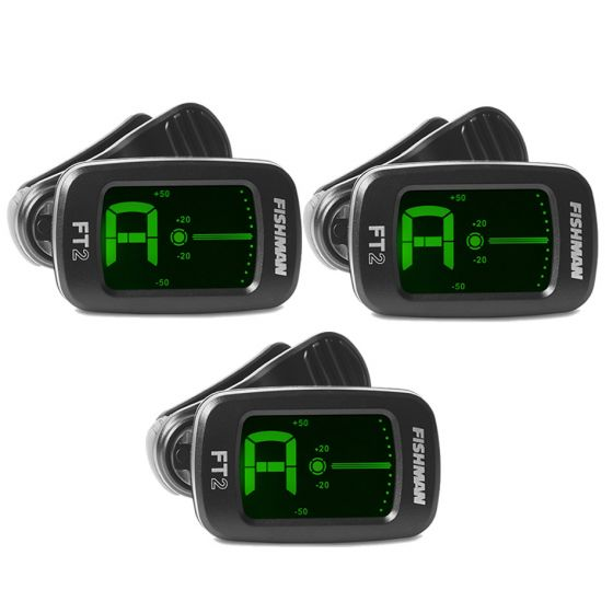 FISHMAN FT-2 Flip-On Clip Tuner 3 Packs
