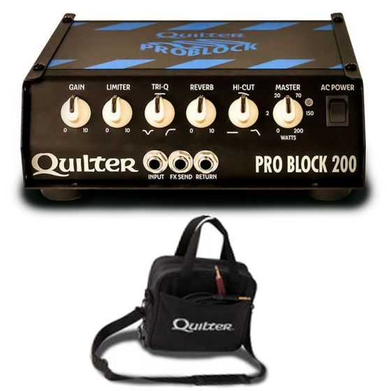 QUILTER LABS ProBlock 200 Watt Ultralight Guitar Amplifier Head w/Carry Case