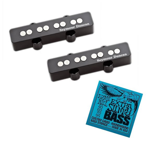 Seymour Duncan SJB-3B and SJB-3N Jazz Bass Pickups with Ernie Ball Extra Slinky Strings EB2835