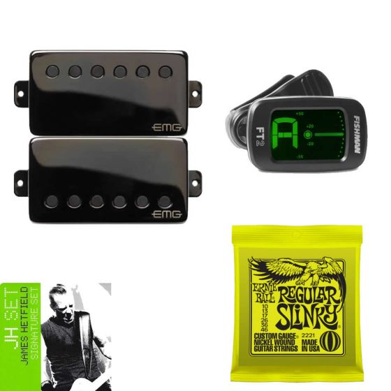 EMG JH-Set James Hetfield Guitar Pickup Set with Free Tuner and Strings