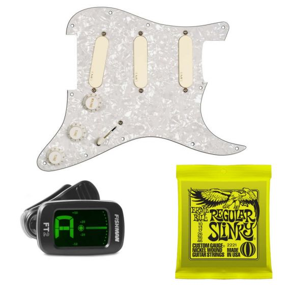 EMG DG20 Ivory David Gilmour Prewired Pickguard Pickup Set w/ FREE Tuner and Strings