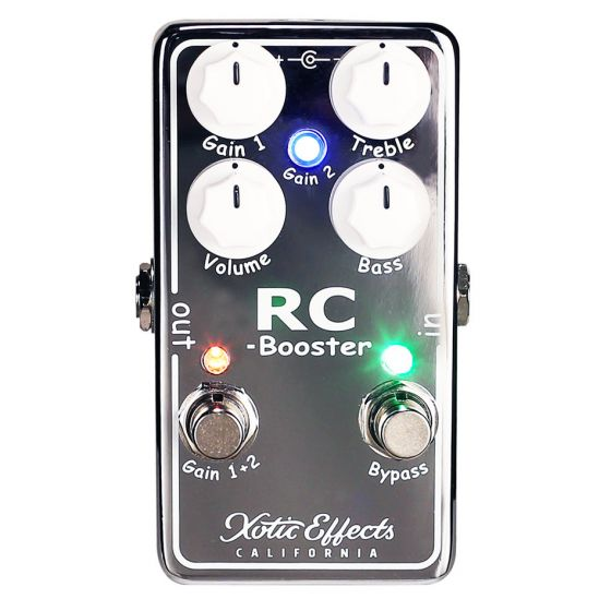 XOTIC RC Booster Clean Signal Boost Guitar Effect Pedal GENTLY USED